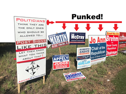 Advice Watch by Advice Star punked punk'd the political signs