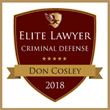 Rolling Meadows, Illinois, Attorney Donald J. Cosley Receives 2018 Elite Lawyer Award for Criminal Defense