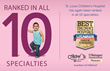 St. Louis Children's Hospital is the Only Pediatric Hospital in St. Louis to Rank in All 10 U.S. News Categories