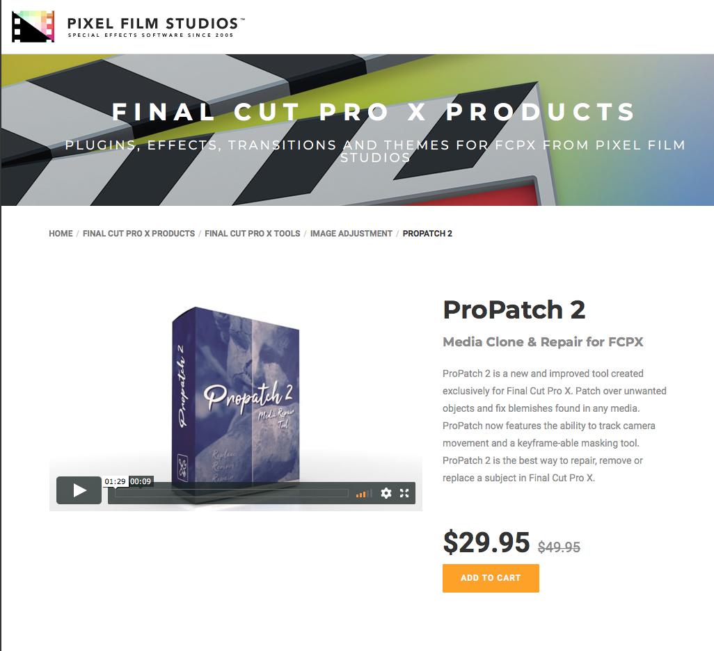 Pixel Film Studios Unveils ProPatch 2 for Final Cut Pro X
