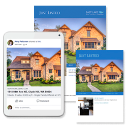 real estate listing marketing collage of assets