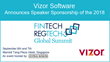 Vizor Software to Sponsor the Central Banking FinTech & RegTech Global Summit 2018
