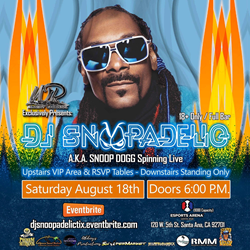 Wright Records, in conjunction with Abbeys Productions, have teamed up to make DJ Snoopadelic's, aka rapper Snoop Dogg, live spinning appearance a reality on Aug 18 at eSports in Santa Ana, California