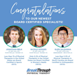 BreakThrough Physical Therapy Physios Become Board Certified Specialists