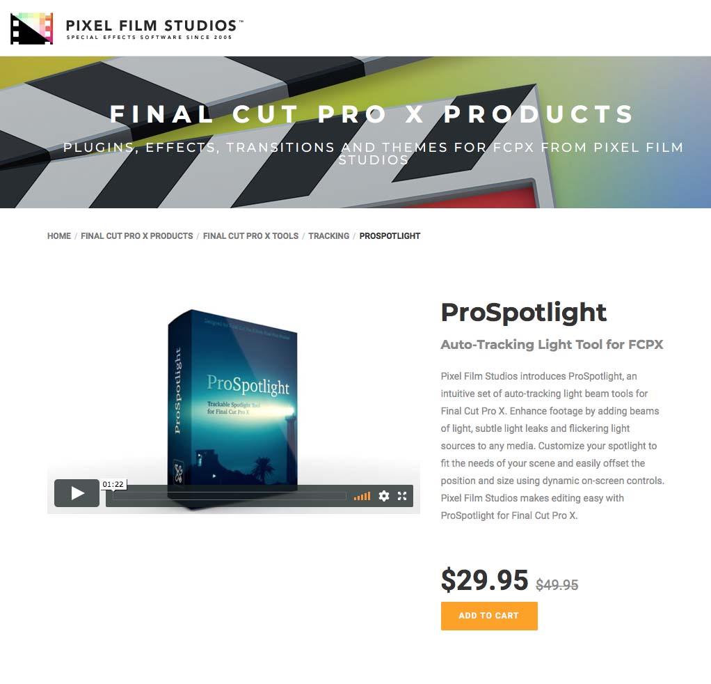Pixel Film Studios Unveils ProSpotlight for Final Cut Pro X