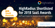 HighRadius Shortlisted for 2018 SaaS Awards