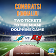 All Year Cooling's Cool Cash Rewards Club Announces Winner of Miami Dolphins Football Tickets and August's Raffle Prize