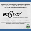 Rutherford and Associates and FTNI Announce Partnership and Integration Between Rutherford's eoStar® Software and FTNI's ETran Integrated Receivables Platform