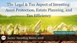 "Financial Poise™ Announces ""Investing Basics 2018: The Legal & Tax Aspect of Investing,"" a Webinar Premiering August 14, 2018 at 2:00 PM CST through West LegalEdcenter"