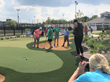 LPGA pro Lauren Coughlin (splits her time between Charlottesville, VA and Houston, TX) shared skills and secrets to success with youngsters at The Children's Museum of Indianapolis.