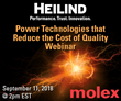 Heilind Electronics and Molex Team Up for Power Distribution Technology Solutions Webinar