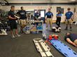 Athletic Training Staff Meets with EMS and Physicians to Practice Emergency Spine Management