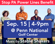 Franklin County Visitors Bureau Spotlights Stop PA Power Lines Benefit at Penn National Golf Center