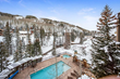 With views of Vail Mountain and Gore Creek, Antlers at Vail hotel's year-round outdoor pool and hot tubs are perfect for relaxing after a long day of skiing and Thanksgiving fun.