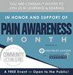 FREE Community Lecture Series for Pain Awareness Month in Tampa, Sarasota & Melbourne Florida