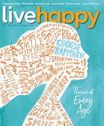 Illustrated cover of Live Happy Issue No. 26