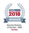 Verteks Named Security Reseller Of The Year For Small To Midsize Businesses At The Inaugural Channelnomics Security Awards