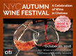 New York Wine Events Expands Annual NYC Autumn Wine Festival with Move to Altman Building, October 20, 2018