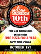 OCT. 1-3 Celebrate the Anniversaries of Mellow Mushrooms in the Myrtle Beach Area