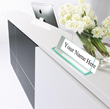 Glass Green Acrylic Desk Name Plate