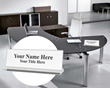 Two-Piece Acrylic Desk Name Plate