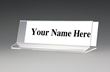 Clear Acrylic Slanted Office Name Plate Holder