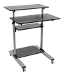 Tripp Lite's New Roll-Anywhere Workstation Adjusts for Sit and Stand Flexibility