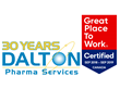 Dalton Pharma Services Continues to Be Recognized, for the Fourth Consecutive Year, As a Great Place to Work in Canada, 2018