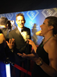 Cindy Ashton interviewing Jeff Timmons from 98 Degrees at The City Gala Awards.