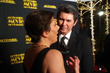Cindy Ashton interviewing Lou Diamond Phillips at the MovieGuide Awards.
