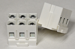 BlockMaster's New 3-Pole High-Power Feed-Through Block for DIN Rail & Panel Mounting