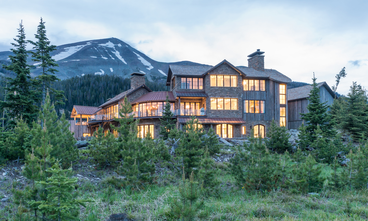 Two JLF Architects Luxury Mountain Homes Featured In Mountain Living  Magazine Popular Rustic Issue