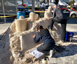 A day-long sand sculpting display by sculptor Sean Fitzpatrick enticed visitors to visit to the Amerimix booth for a chance to win a Mud Hog Mixing Machine