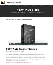Pixel Film Studios Announces FCPX Auto Tracker Outline for