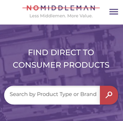 Nomiddleman.com Website