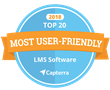 SkyPrep Named in Capterra's Top 20 Most User-Friendly Learning Management Software Rankings