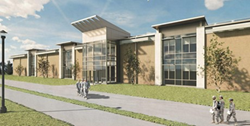 Rendering of the renovated Allen Hall courtesy of AECOM