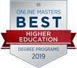 OnlineMasters.com Names Top Master's in Higher Education Programs for 2019