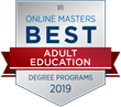 OnlineMasters.com Names Top Master's in Adult Education Programs for 2019