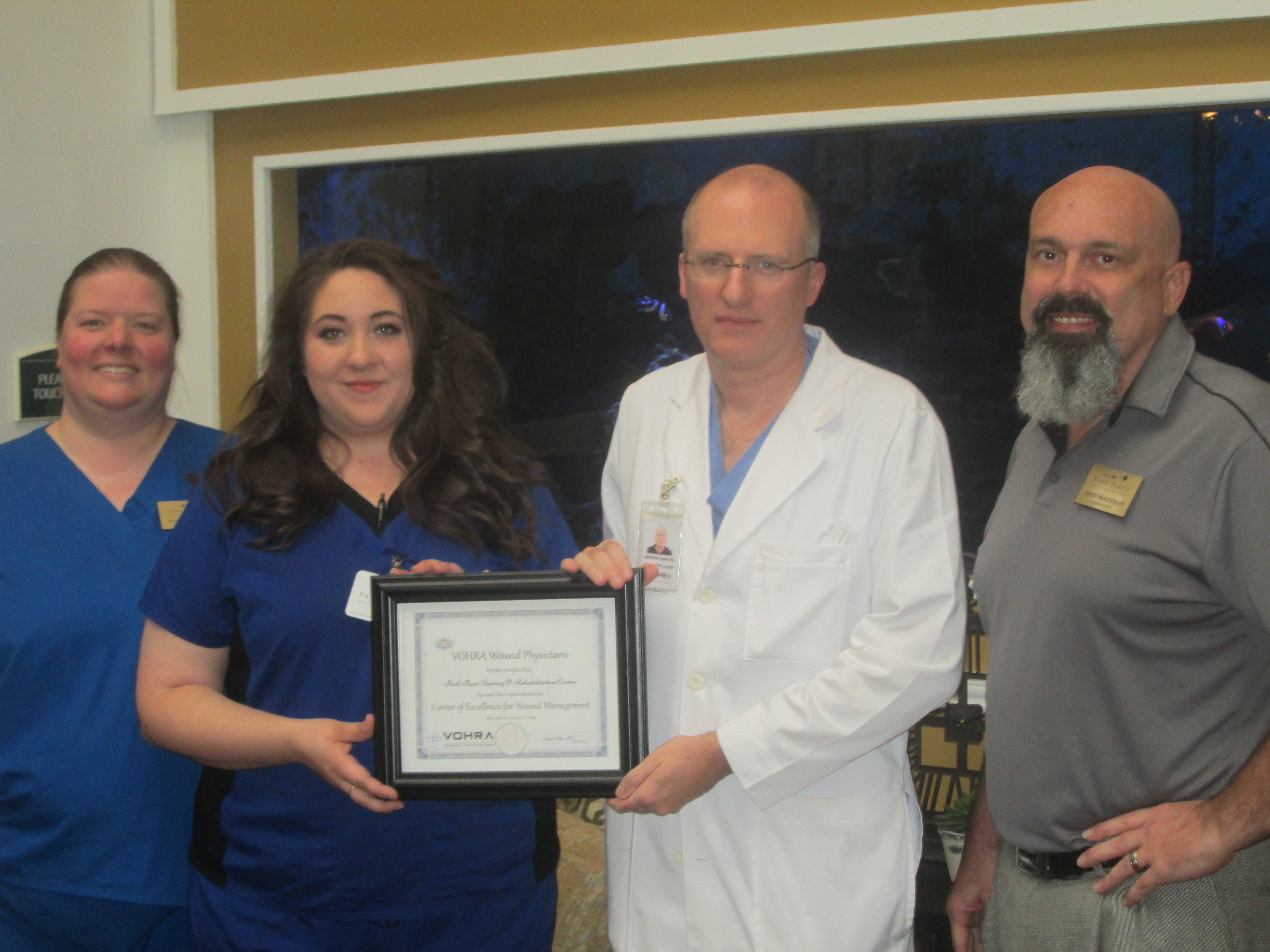Park Place Nursing And Rehabilitation Center Earns Vohra Wound Care