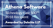 Athena Software Ranked Number 435 Fastest Growing Company in North America on Deloitte's 2018 Technology Fast 500™