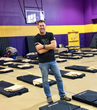 Scott Smalling with donated Relief Beds at Union Rescue Mission