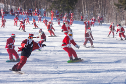Santas hit the slopes at Sunday River