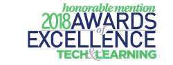 Logo of 2018 Tech & Learning Awards of Excellence Honorable Mention