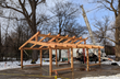 New Outdoor Pavilion/Classroom at Rochester Childfirst Network Crafted and Raised by New Energy Works Timberframers