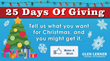 Want Free Prizes? Enter the 25 Days of Giving Contest for Free!