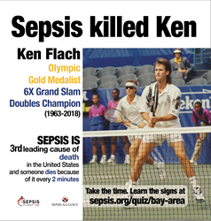 Ken Flach, Sepsis, Sepsis Alliance, Sepsis Awareness