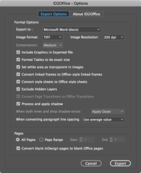 Convert InDesign files seamlessly to Word, PowerPoint and Apple Keynote type