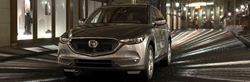 front view of silver mazda cx-5