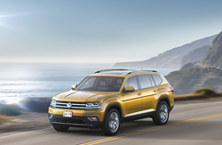 2018 VW Atlas in Yellow Exterior Paint Color.
